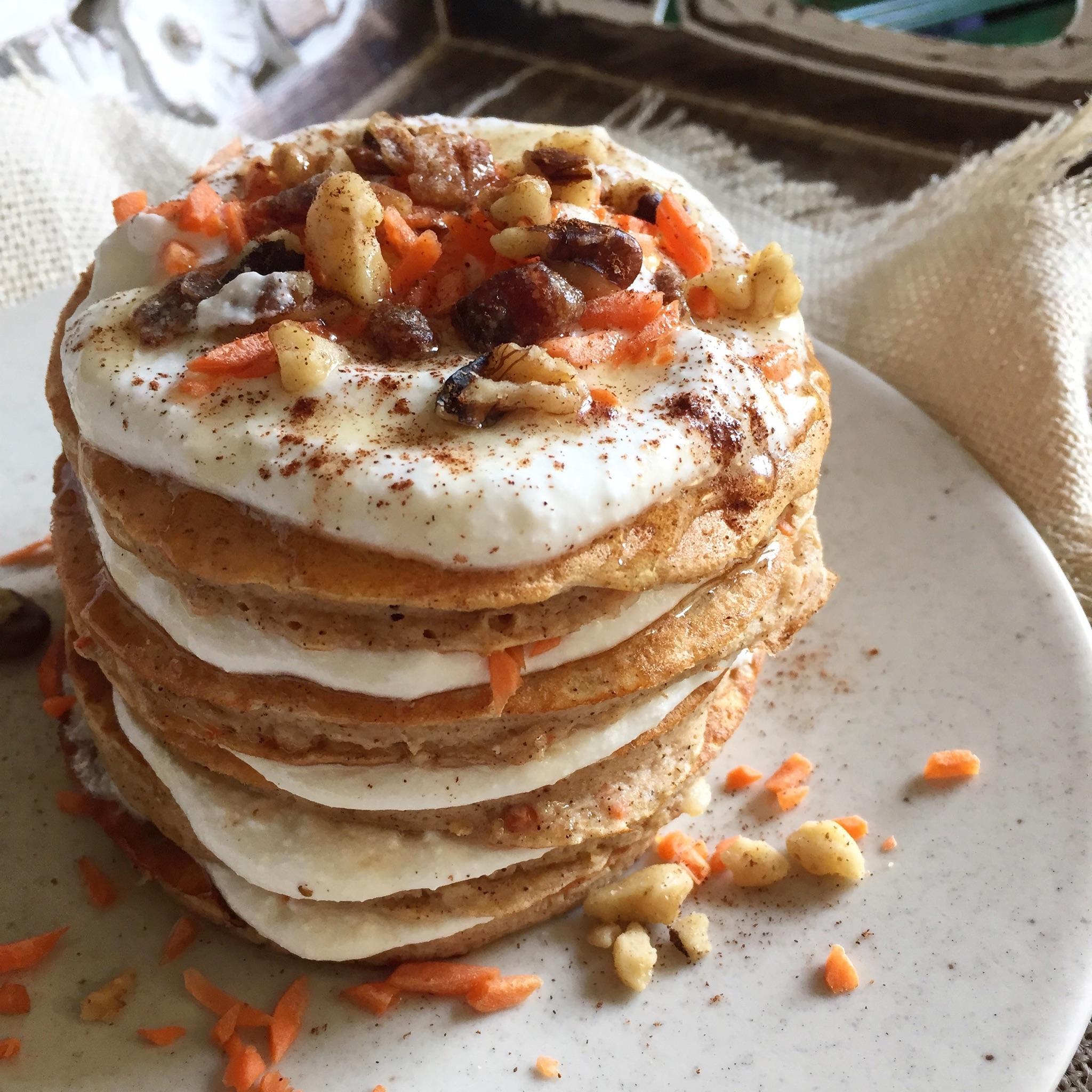 Carrot Cake Protein Pancakes