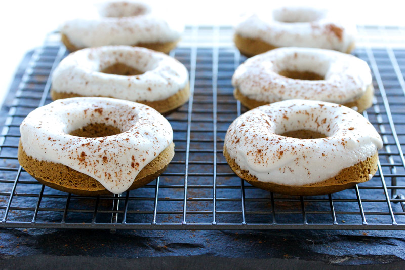 Gingerbread Protein Donuts with Cinnamon Maple Frosting
