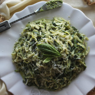 Zucchini Noodles with Creamy Walnut Pesto