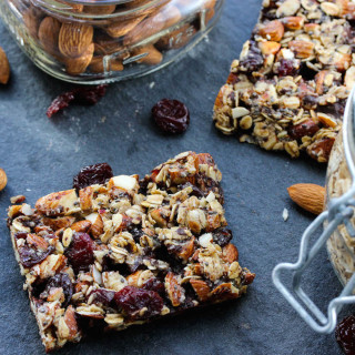 Dark Chocolate Cherry Chia Almond Bars