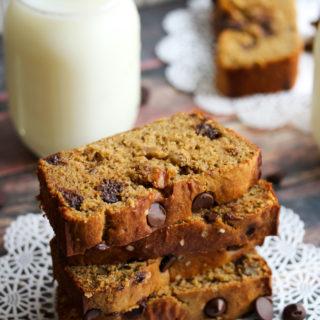 Chickpea Flour Banana Bread with Dark Chocolate and Walnuts (Gluten-Free)