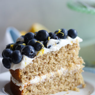 Gluten-Free Lemon Blueberry Greek Yogurt Cake