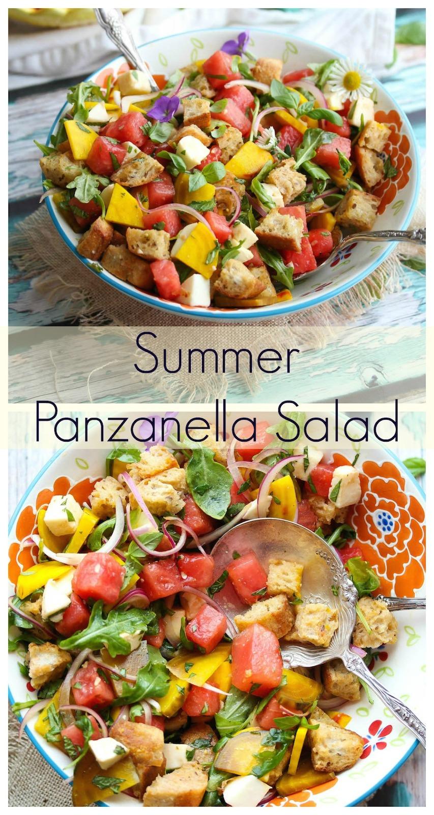 Summer Panzanella Salad | Dishing Out Health