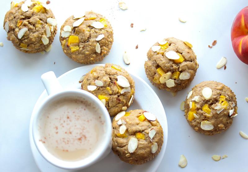 Whole Grain Peach and Coriander Muffins