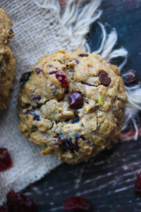 Trail Mix Energy Cookies | dishingouthealth.com