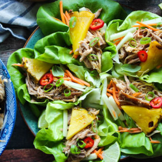 Slow Cooker Thai Pork Lettuce Wraps