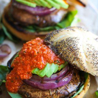 Portobello Romesco Burgers