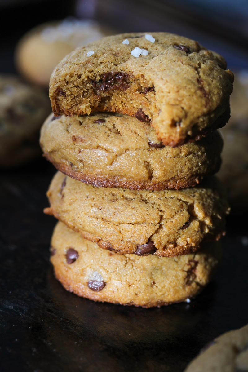Whole Wheat Chocolate Chip Tahini Cookies
