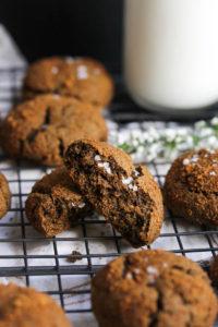 Buckwheat Cardamom Molasses Cookies | dishingouthealth.com