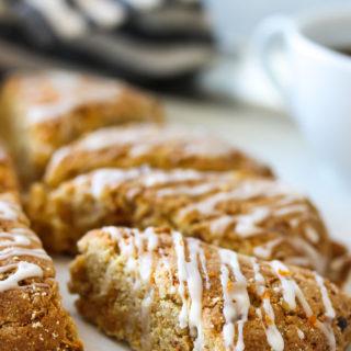 Almond Flour Carrot Cake Scones