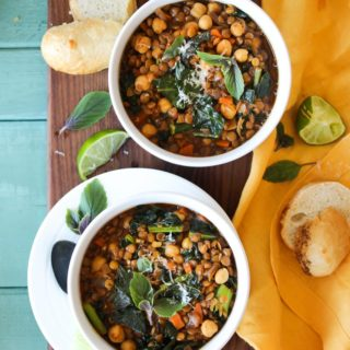 Smoky Chickpea Lentil Soup