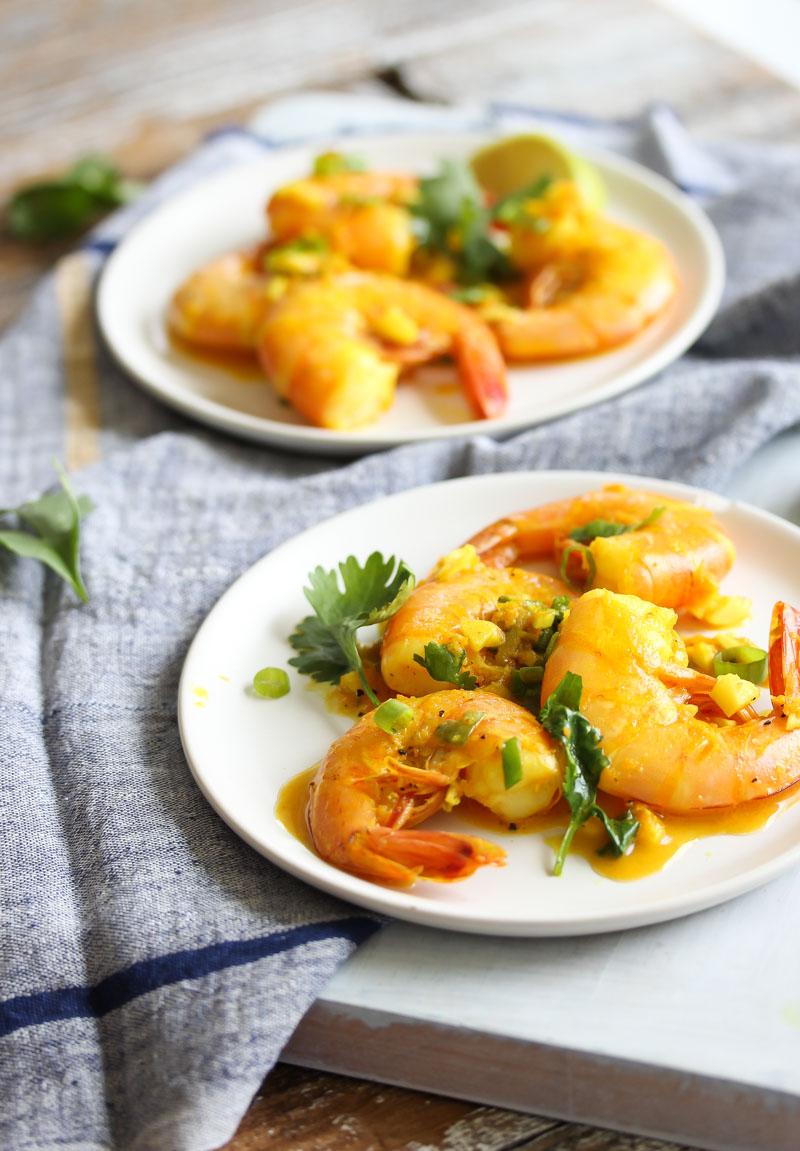 Shrimp in Turmeric-Lime Sauce   dishingouthealth.com