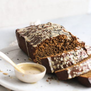 Gingerbread-Tahini Banana Bread