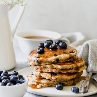 Whole-Grain Blueberry-Chai Buttermilk Pancakes