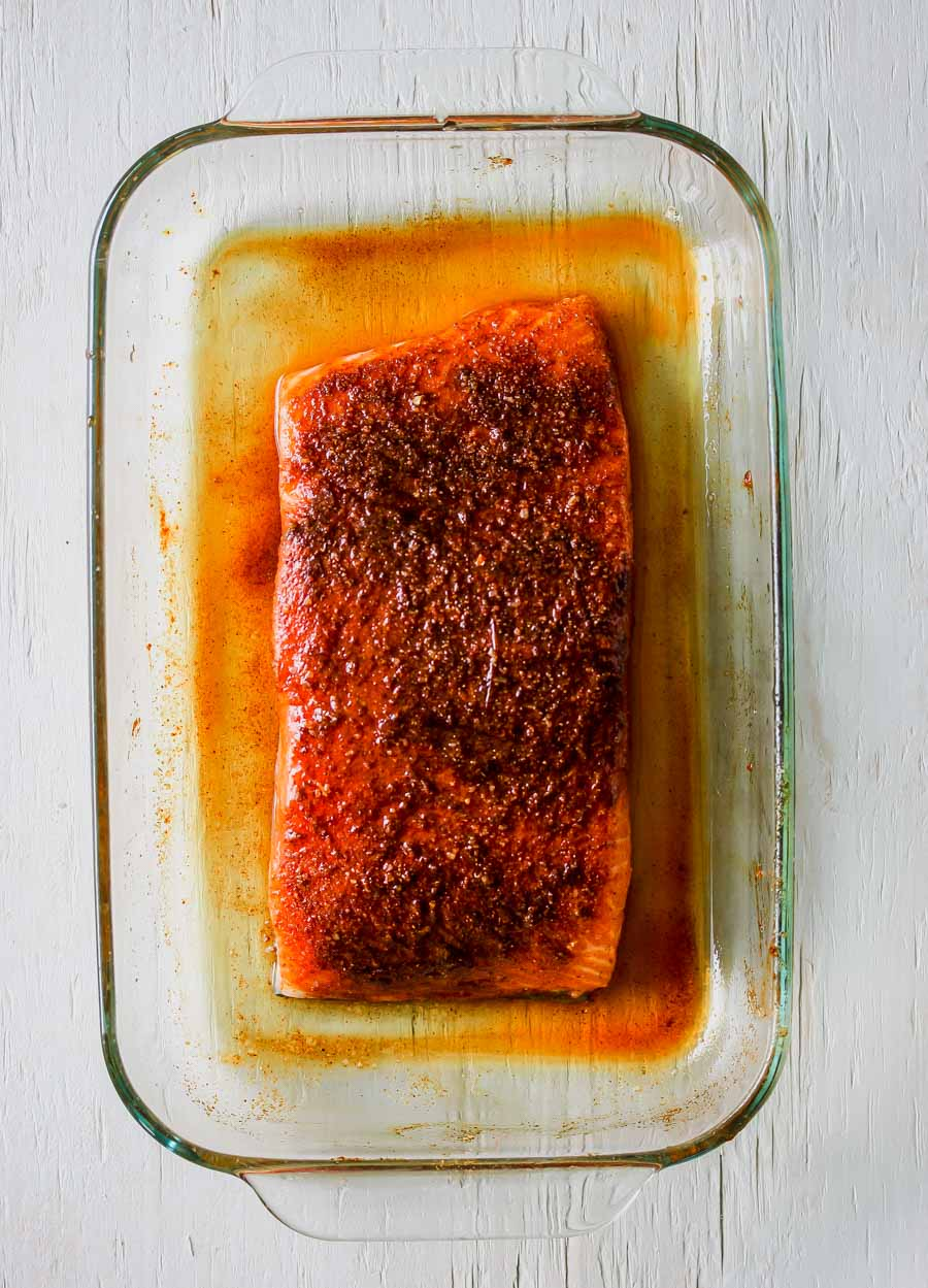 Crispy Salmon with Indian Spices and Jeweled Rice