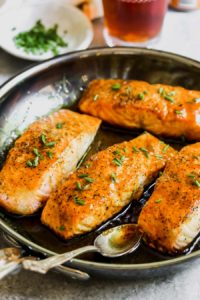 5 Ingredient Curried Maple-Mustard Salmon