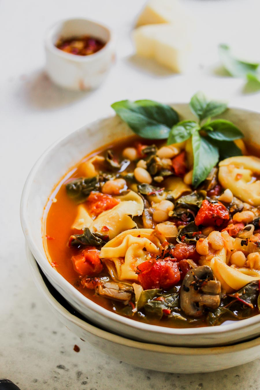 Tuscan Tortellini and Tomato Soup