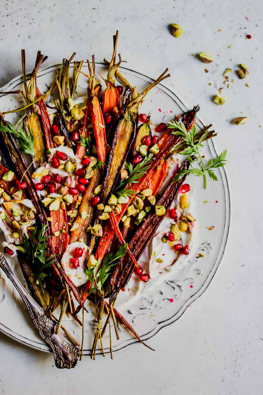 5 Ingredient Pomegranate-Glazed Carrots with Whipped Goat Cheese