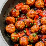 Kung Pao Cauliflower Meatballs