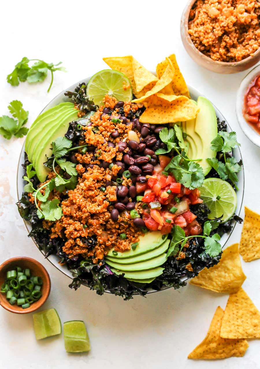 30 Minute Loaded Quinoa Taco Salad