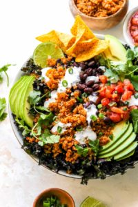 30 Minute Loaded Quinoa Taco Salad
