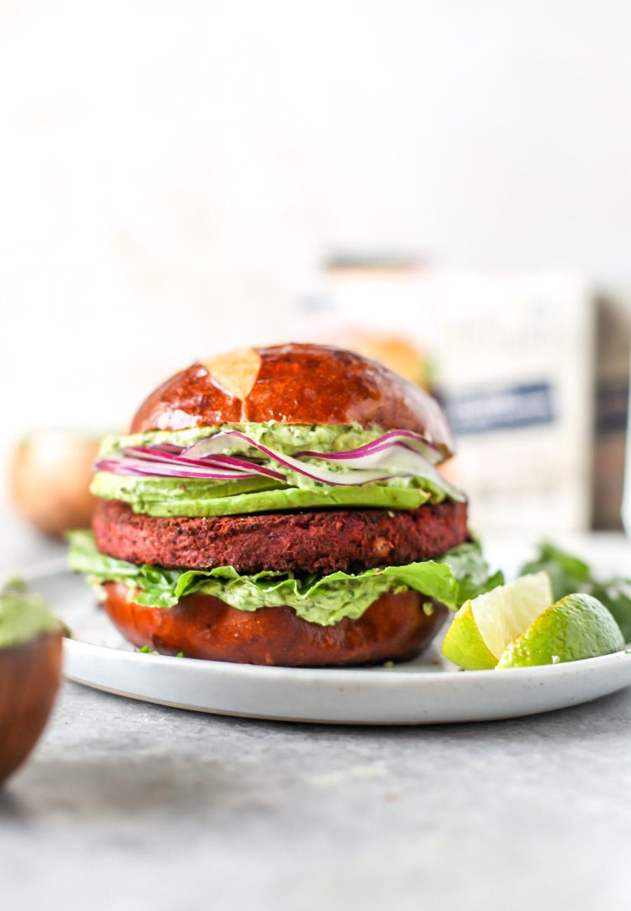Green Goddess Beet Burgers