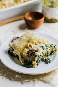Spinach and Pesto White Lasagna
