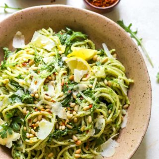 20 Minute Parslied Pea Pesto Pasta
