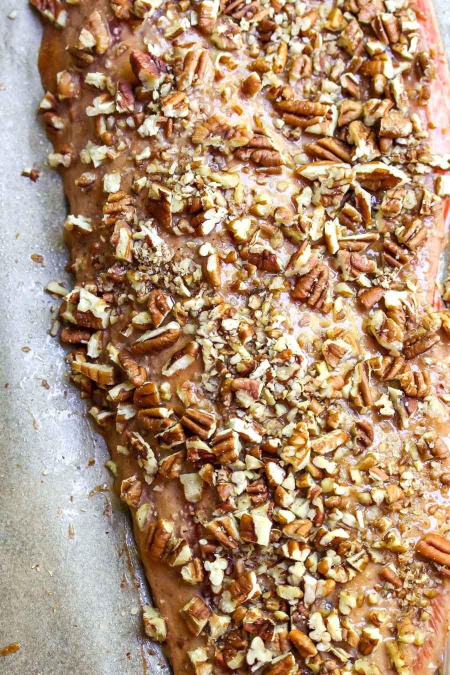 Pecan-Crusted Roasted Salmon