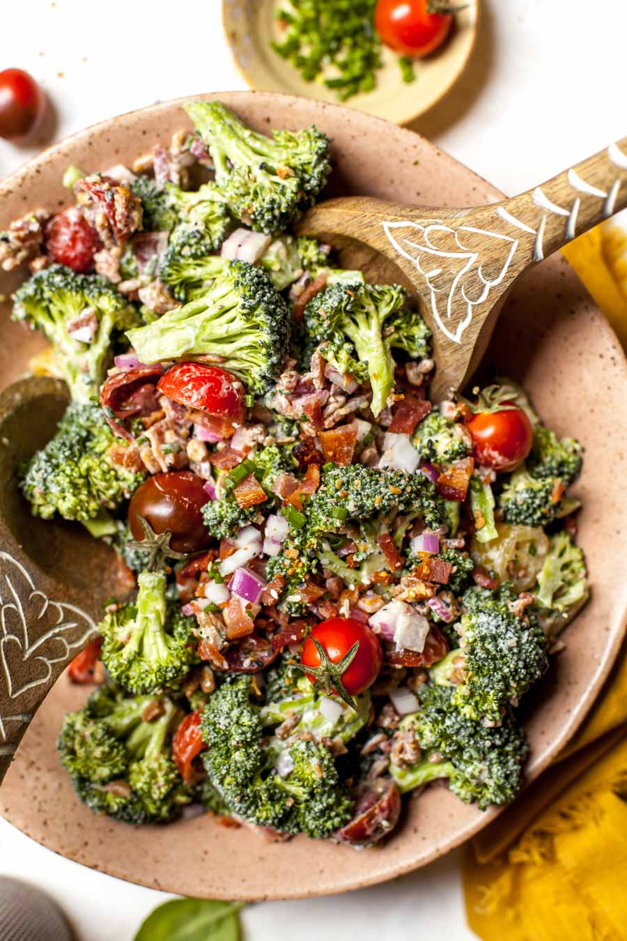 Everything Bagel Spiced Broccoli Salad