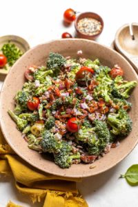 Broccoli Salad with Everything Bagel Spice
