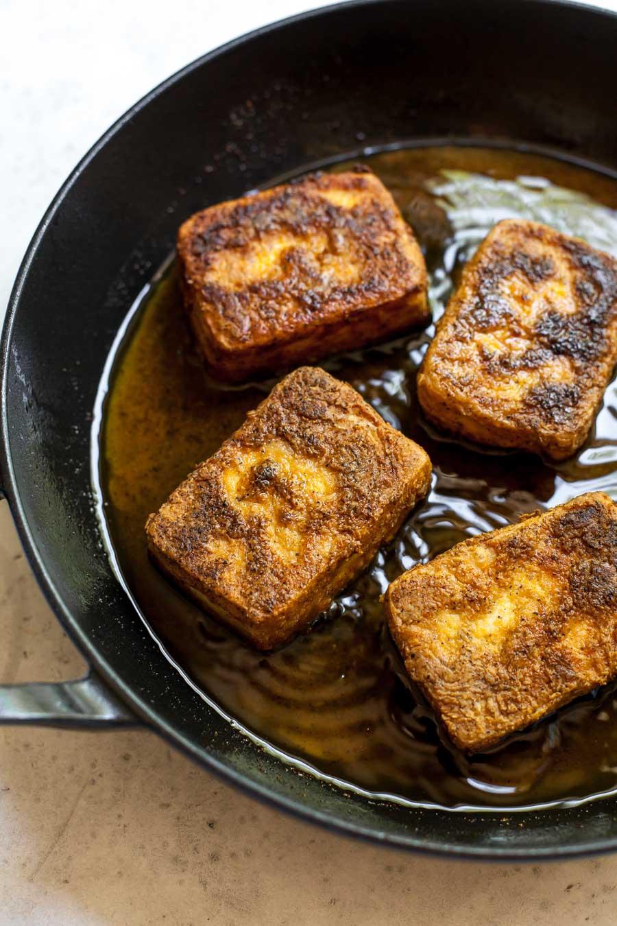 Crispy Pan-Fried Tofu