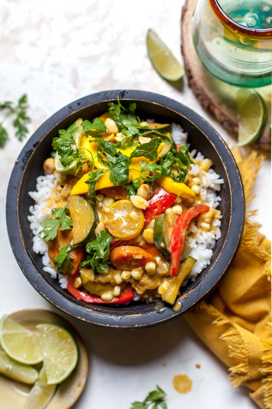Vegetarian Curry with Mango Salad