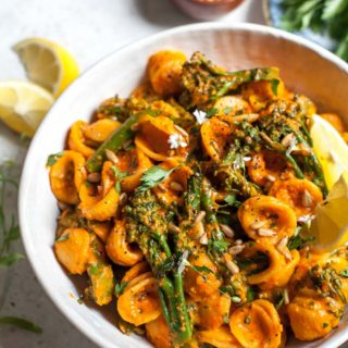 Pasta Salad with Romesco Sauce