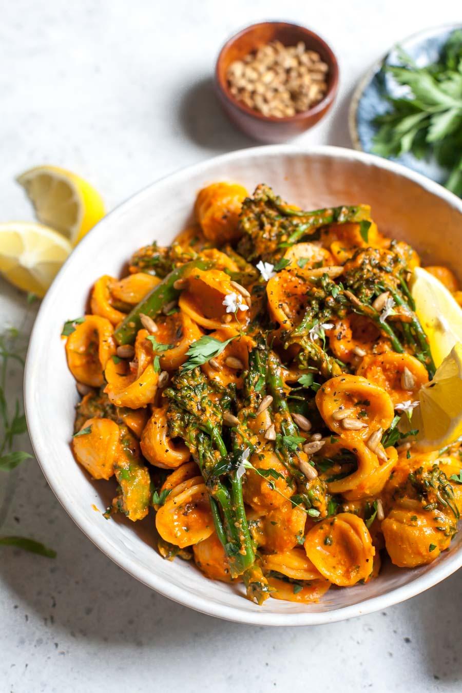 Pasta Salad with Romesco Sauce