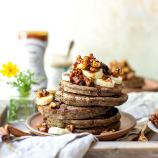 Buckwheat Banana Bread Pancakes