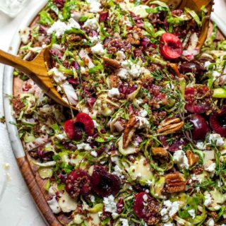 Chopped Salad with Cherries and Brussels