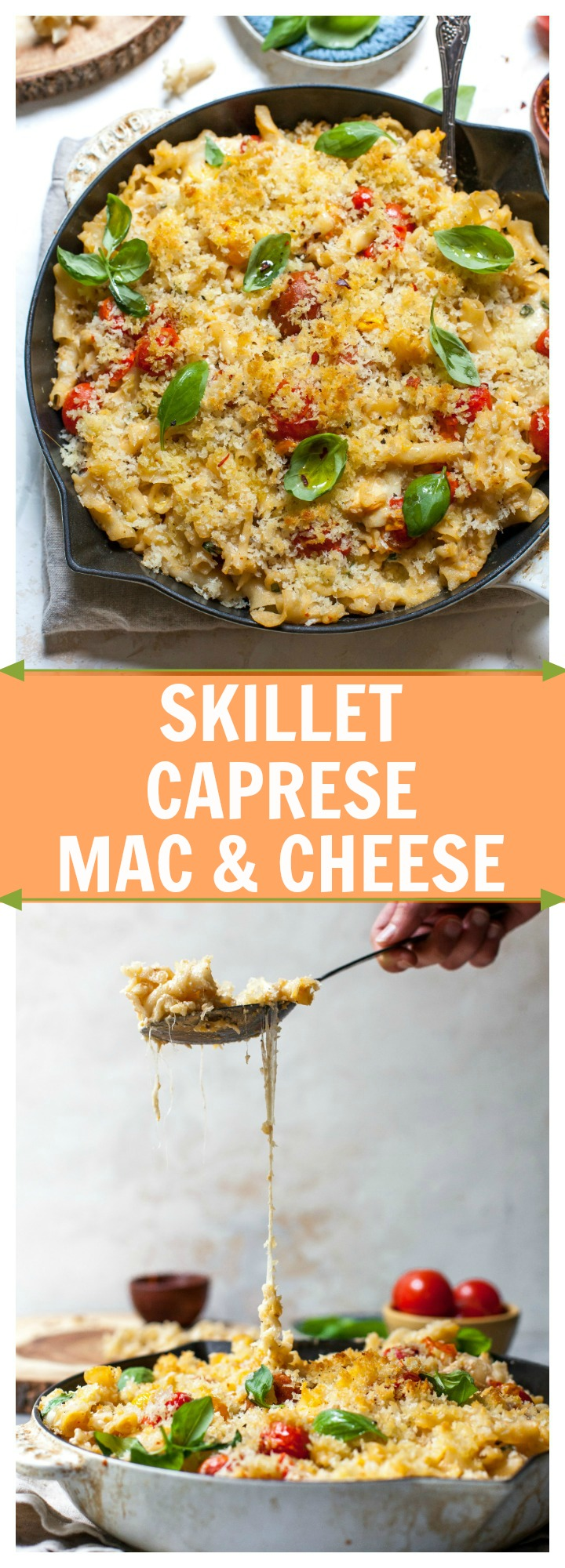 Mac and Cheese Caprese-style for Pinterest