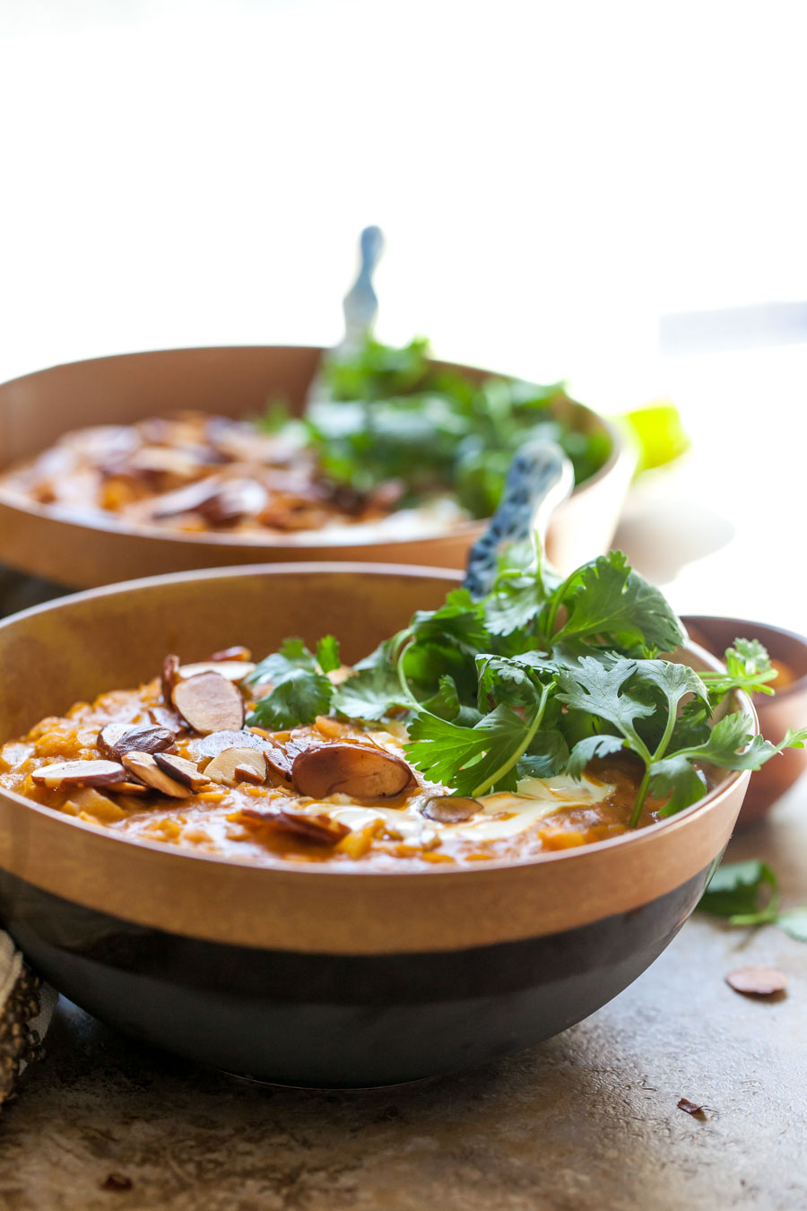 Curried Lentil Soup with Yogurt and Cilantro made in one pot