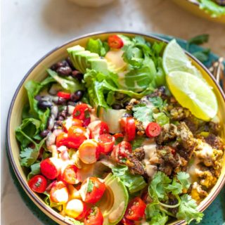 Meal prep Tex Mex Salads (Vegetarian, Gluten Free)