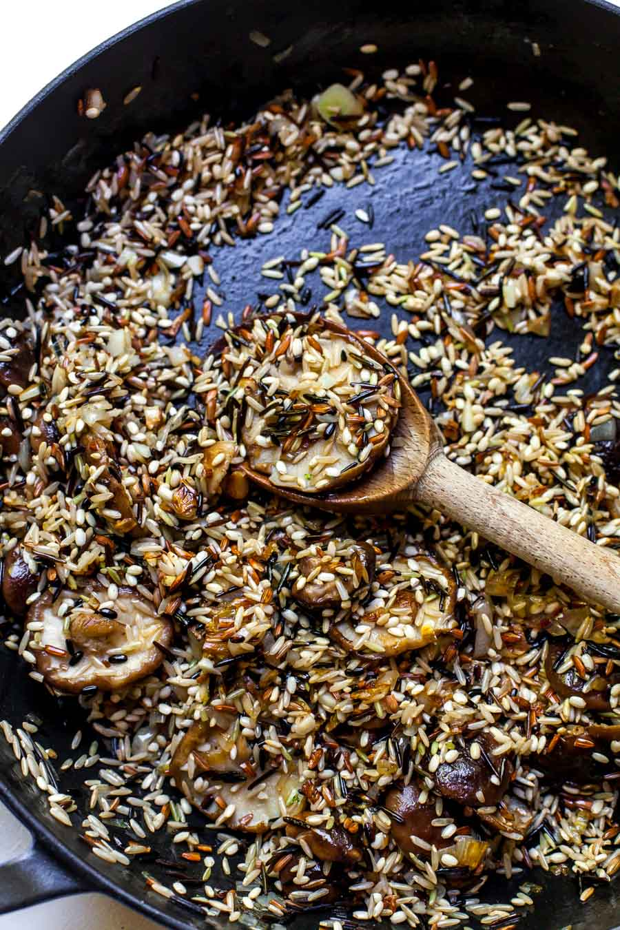 Shiitake Mushrooms and Wild Rice Blend