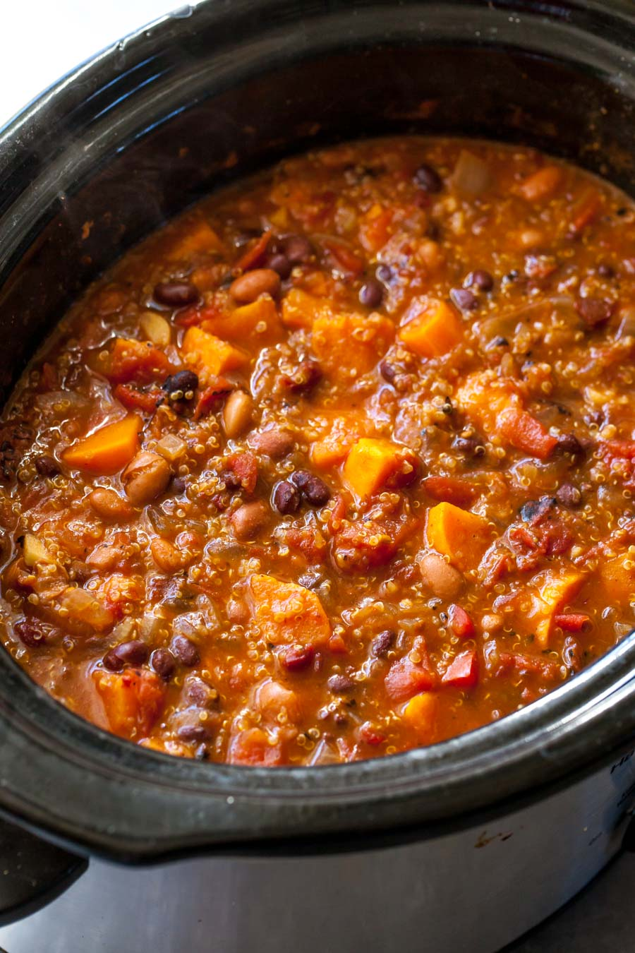 Vegetarian Chili in the Slow Cooker