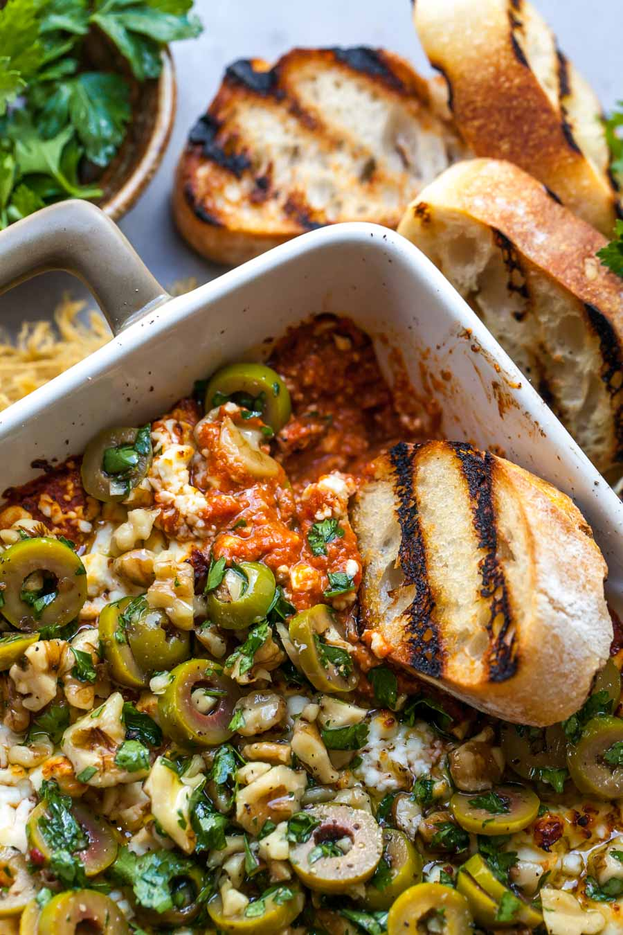 Cheesy Baked Red Pepper Dip