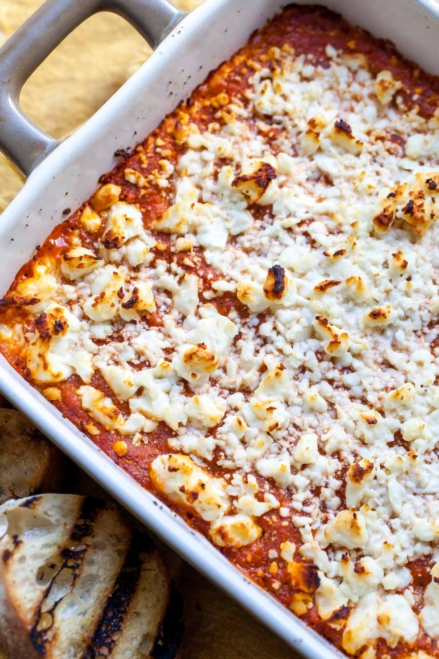 Cheesy Baked Moroccan Red Pepper Dip