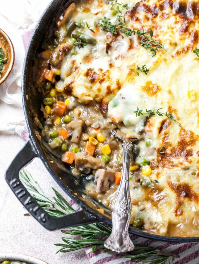 Shepherd's Pie with Lentils and Mushrooms (Vegetarian)