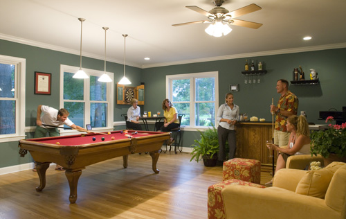 Enjoying Pool With Friends -Mike Maher home builder