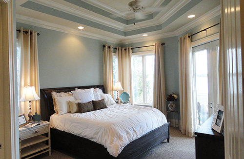 Master Bedroom with Triple Tray Ceiling