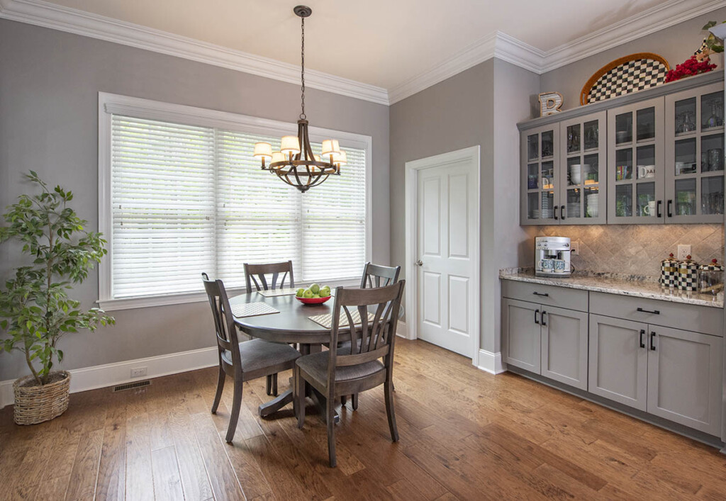 Breakfast nook with built in cabinets