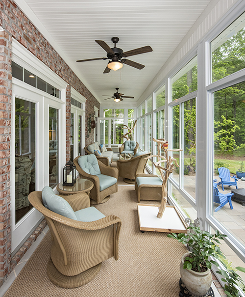 Sun room overlooking patio