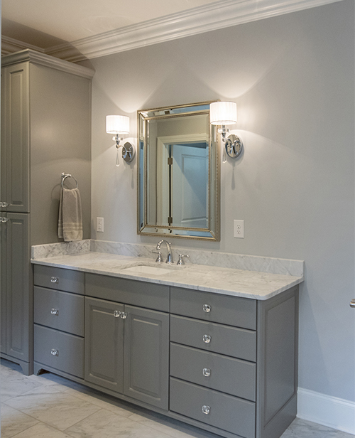 Vanity in master bathroom